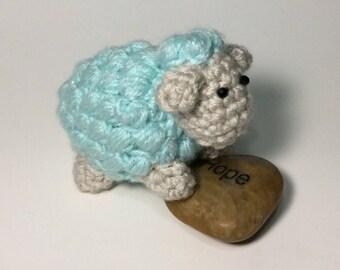 Amigurumi crochet toy sheep stuffed animal handmade doll