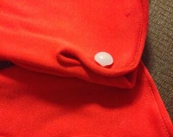Red vintage gloves