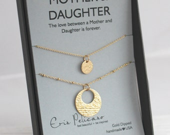 Mother Daughter Necklace gift for Mom Gift Mom Necklace Mother of the Bride Gift Mother Daughter Gift Birthday Gift Bridal Gift for Daughter
