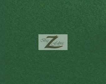 "Solid Acrylic Felt Fabric - HUNTER GREEN - Sold By The Yard - 72"" Width"