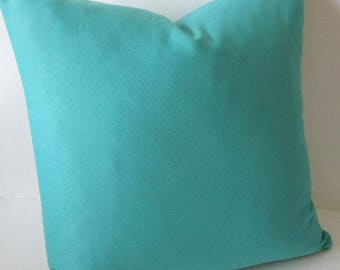 Blue Pillow Cover, Outdoor Blue Pillow, Teal Blue Pillow, Solid Blue Pillow, Richloom Pillow, Decorative Pillow, Teal Pillow Cover