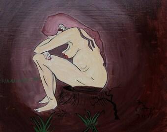 A Tribute to Sorrow (original) | Folk Art