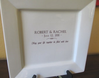 Wedding Guest Book Platter up to 50 Signatures