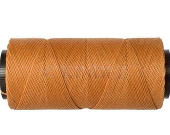 Waxed Cord - 15 meters/16 yards - Bracelet Thread - Macrame Cord 0.8mm - Light Brown