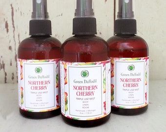 Northern Cherry Room Spray Mist - Green Daffodil - VEGAN - 4oz. - RM