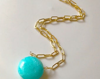 Amazonite Solitaire Necklace