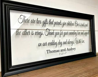 Parents Wedding Gift, Parent Gift, Gifts for Parents, Wedding Gifts for Parents, Parents Wedding Gift Frame, Mother of the Groom Gift, 207