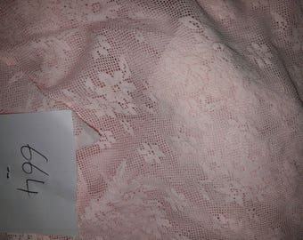 NO. 664-LACE ELASTIC SLIGHTLY STRETCHY POLYESTER COTTON LIGHT PINK