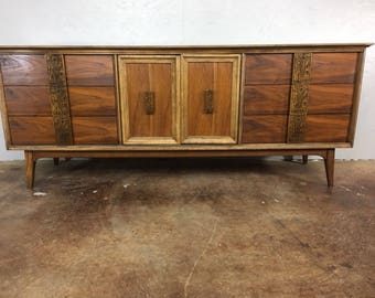 Bassett Nine Drawer Dresser from the Mayan Collection