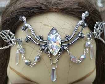 Crystalline Circlet of the Pure Magic elven celtic priestess druid cosplay bridal goddess