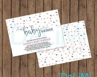 Baby Shower Invitation - Rain Invitation - Bright Watercolour Invitation - Printable Invitation - Personalised - Digital File!