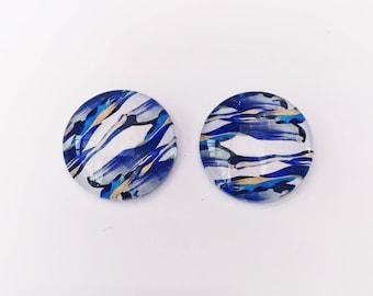 The 'Mikaela' Glass Earring Studs