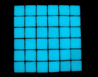 36 Amazing White Glow in the Dark Glass Tiles