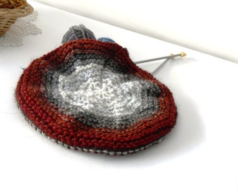 chunky knitted tam, knit beanie wool and alpaca blend, chunky knit beret, knitted beanie hat by cosediisa mother's day gift