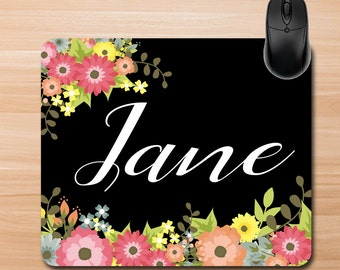 Mouse Pad. Custom Mouse Pad. Personalized Mouse Pad. Office Gifts, Teacher Gifts. Promotional Items. Floral Mouse Pad. Home Office Supplies.