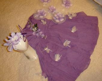 Flower fairy princess dress womens siz 10 12 Halloween Costume cosplay fantasy white flower nymph ready to ship angel