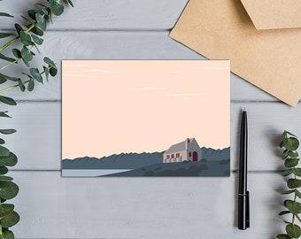 Church of the Good Shepherd, Lake Tekapo, New Zealand Modern Design Greeting  Card