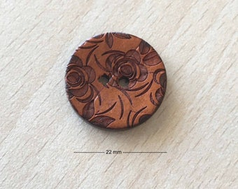 """Pretty """"flowers"""" Brown size: 22 mm"""