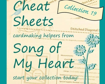 Cheat Sheets #19 Collection: Instant Digital Download cardmaking helpers for crafters and stampers