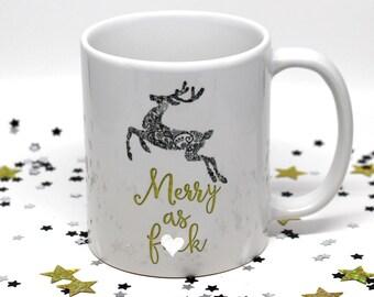 Christmas Gift for Her, Christmas Gift for Him, Funny Holiday Mug, Funny Coffee Mug, Funny Holiday Gift, Christmas Coffee Cup, Stocking