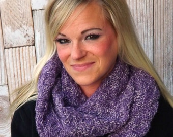 Infinity Cowl - Textured Infinity Scarf - Chunky Cowl - Winter Cowl - Knit Cowl - Winter Scarf - Winter Accessory