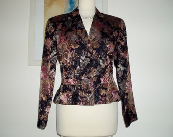 Gorgeous floral occasion jacket from Monsoon Twilight UK 10 US 8 c. 1980s