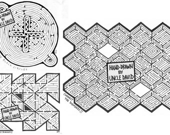 Geometric THREE MAZE Combo Pack!
