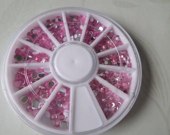 x 1 carousel from + / rhinestones/jelly pink paste 1, 5-4 mm