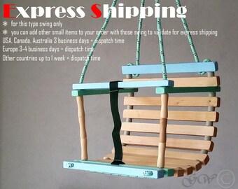 Personalized Wooden Handmade Swing, Baby Swing, Todler swing