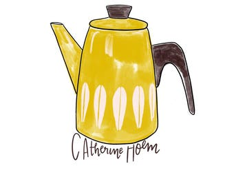 Catherine Holm teapot printable illustration