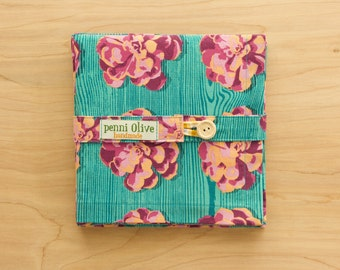 Succulent Themed Cloth Napkins in Turquoise