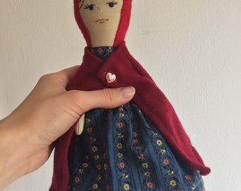 Little Red Riding Hood Cloth Doll