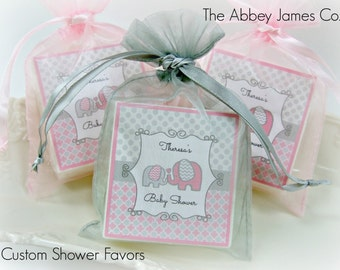 Baby  Shower Favors, Elephant Baby Shower Favors, Girl Baby Shower Favors, Soap Favors, set of 10