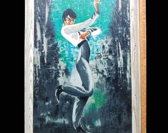 "Mid Century Modern Oil Painting!!! 18"" x 27"" Mid Century Modern Art, Mid Century Art, Mid Century Painting Vintage Painting Flamenco Dancer"