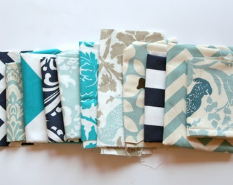 60% OFF! Fabric Scraps SALE- Premier Prints Fabric Remnants- Blue Color Assortment- Home Decor Fabric, Blue Swatch Pieces, Blue Material