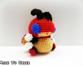 Crochet Ledian Inspired Chibi Pokemon