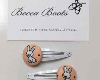 Rabbit hair clips