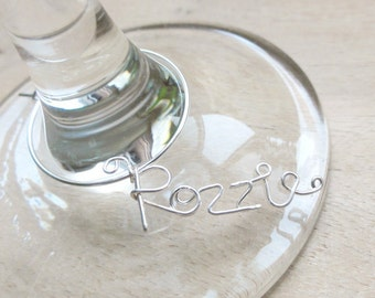 Personalized Name for Wine Glass - Single 1 wine charm