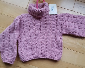 Rose Girl's Sweater ( Size 6 - 12 mo.)Child's sweater, Baby sweater
