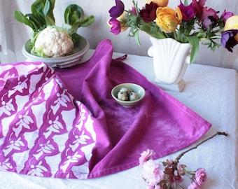 amethyst cyclamen cotton tea towel