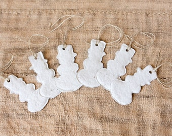 READY TO SHIP Let it Snowmen-Handmade Paper Gift Tags, set of 6