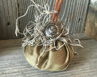 Shabby Chic Fabric Pumpkin #1