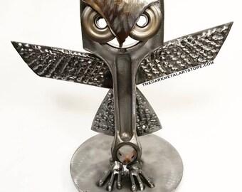 Hoot Metal Art Owl