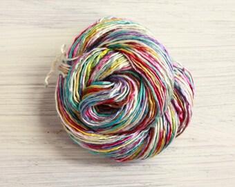 Worm Goo Silk Thread Mini Skein Hand Painted Off to Oz