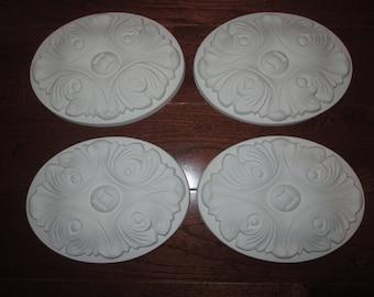 Oval Decorative Onlay - set of 4