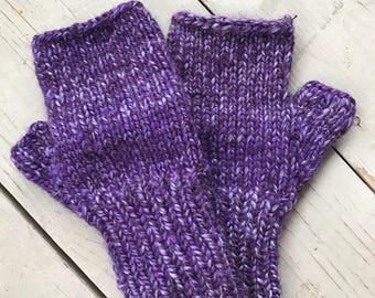 Fingerless gloves - knit