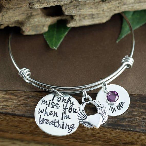 Personalized Memorial Bracelet, Remembrance Bracelet, Loss of Child, Bereavement Bracelet, Funeral Gift, Loss of Loved one, Charm Bracelet