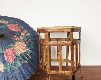 Vintage bamboo plant stand or low table