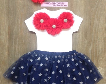 4th of July Outfit, Baby's 1st 4th of July, Red White & Blue Outfit, Patriotic Baby Outfit, 4th of July Baby, Independence Day Baby Outfit
