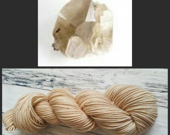 Hand Dyed Yarn, Merino, DK Weight Tonal Yarn Perfect for Hats, Cowls, Scarves, Sweaters and Mittens - Smokey Quartz